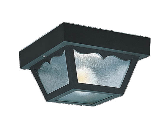 Sea Gull Lighting 7569-32 Two-Light Outdoor Ceiling Light Fixture, Black