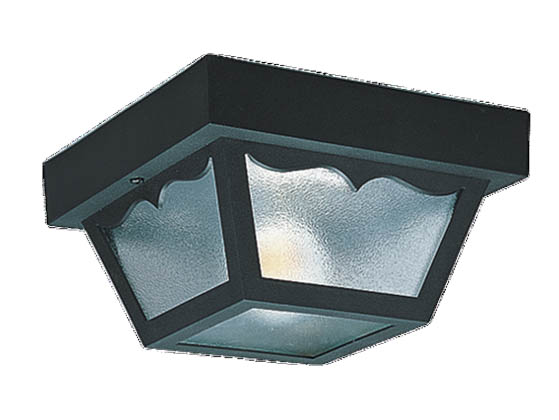 Sea Gull Lighting 7567-32 One-Light Outdoor Ceiling Light Fixture, Black