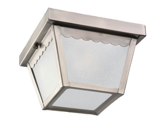 Sea Gull Lighting 75467-965 One-Light Outdoor Ceiling Light Fixture, Antique Brushed Nickel