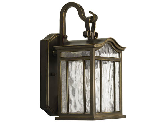 Progress Lighting P5715-108 One-Light Outdoor Wall Lantern, Meadowlark Collection, Oil Rubbed Bronze Finish
