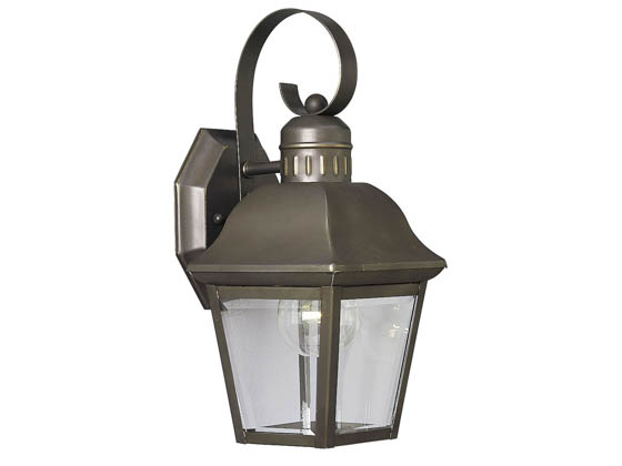 Progress Lighting P5687-20 One-Light Outdoor Wall Lantern, Andover Collection, Antique Bronze Finish
