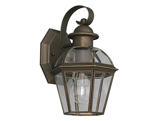Progress Lighting P5931-20 One-Light Outdoor Wall Lantern, Danbury Collection, Antique Bronze Finish