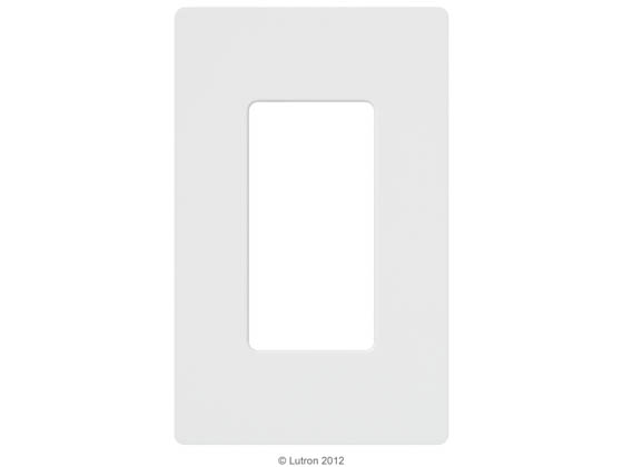 Lutron Electronics CW-1-WH Lutron Claro Screwless Single Gang Wallplate