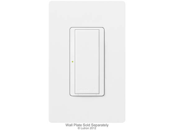 Lutron Electronics MRF2-6ANS-277-WH Lutron Maestro Wireless Switch, 6 A Lighting, 277 V