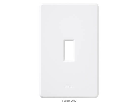 Lutron Electronics FG-1-WH Lutron Fassada Screwless Single-Gang Wallplate