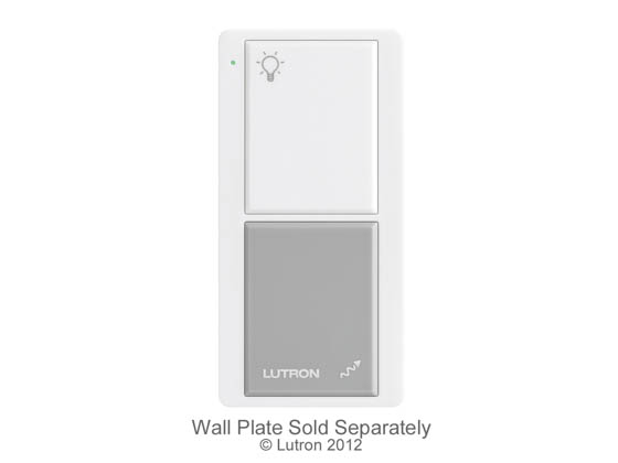 Lutron Electronics PJ-2B-GWH-I01 Lutron Pico 2-Button Wireless Control With On/Off