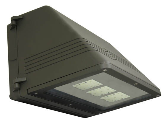 MaxLite 70877 MLLWP40LED50DS 35 Watt LED Wallpack Fixture, Full Cutoff