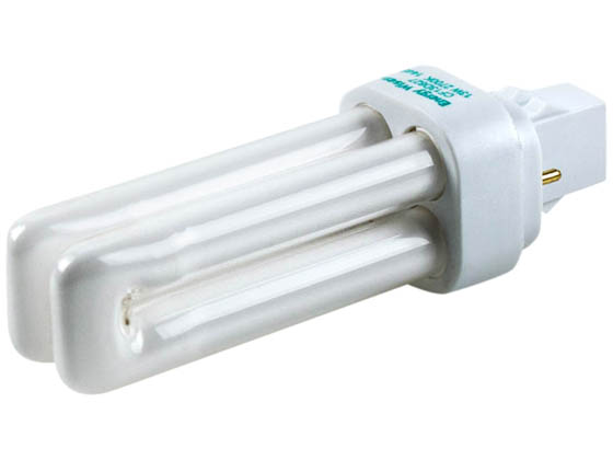 Bulbrite 524113 CF13D827 13W 2 Pin GX232 Warm White Quad Double Twin Tube CFL
