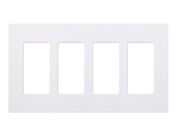 Lutron Electronics CW-4-WH Lutron Claro Screwless 4 Gang Wallplate, White