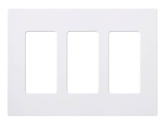 Lutron Electronics CW-3-WH Lutron Claro Screwless 3 Gang Wallplate