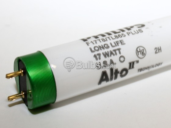 Philips Lighting 281931 F17T8/TL865 PLUS/ALTO Philips 17W 24in T8 Daylight White Long Life Fluorescent Tube