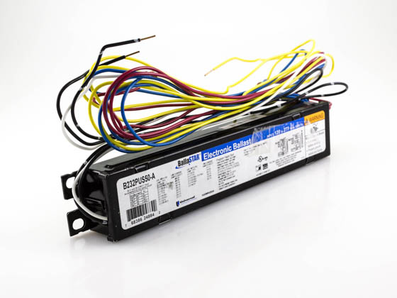 Universal B232PUS50-A Electronic Dimming Programmed Start Ballast 120V to 277V for (2) F32T8