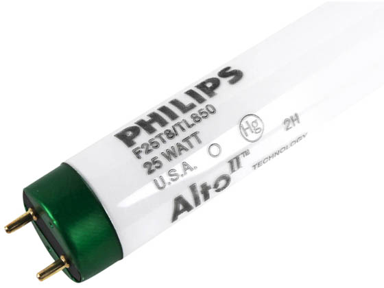 Philips Lighting 280925 F25T8/TL850 ALTO Philips 25W 36in T8 Bright White Fluorescent Tube