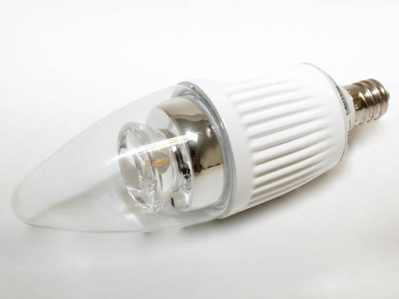 Bulbrite B770409 LED5CTC/30K/D 40W Incandescent Equivalent, 15000 Hour,  5 Watt, 120 Volt Warm White DIMMABLE LED Decorative Bulb
