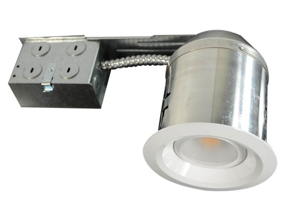"MaxLite 71790 RFR409ICAT30W 50W Halogen Equivalent, 9 Watt Dimmable 4"" LED Recessed Downlight Fixture - Remodel"