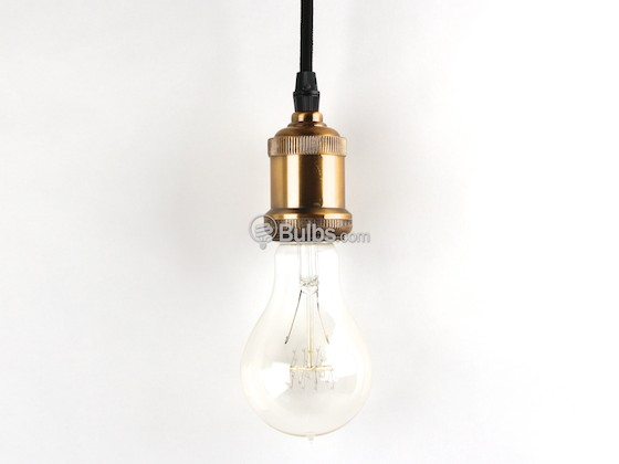 Bulbrite B810010 NOS/PEND/BARE-PW Nostalgic Pendant Fixture, Antique Pewter Finish