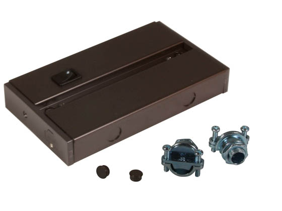 American Lighting ALC-BOX-DB Hardwire Junction Box For LED Complete 2  and LED 3-Complete Undercabinet Fixture - Dark Bronze