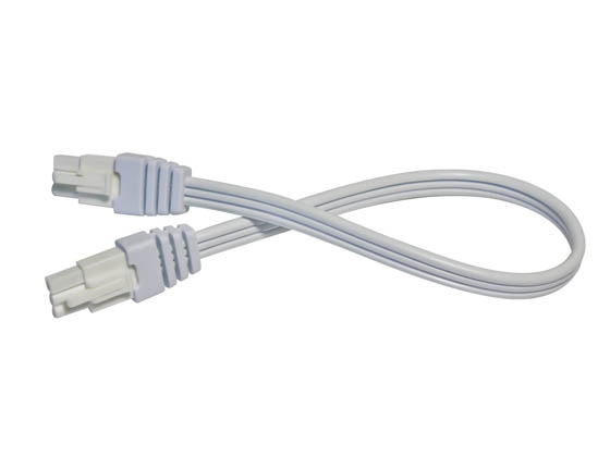 "American Lighting LUC-EX12-WH 12"" Linking Cable for LED Contrax Undercabinet Fixture - White"