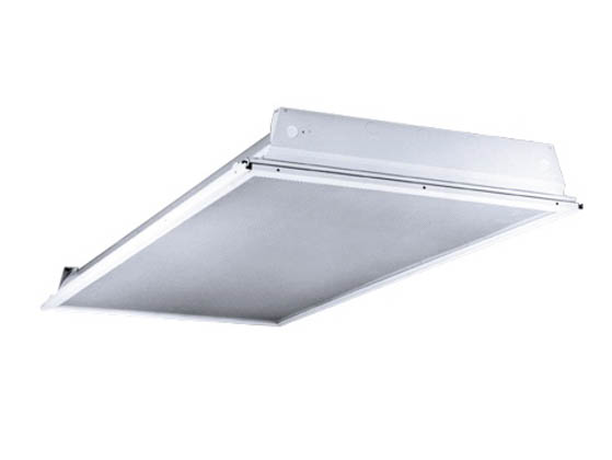 Columbia Lighting 4PS24-332G-FSA12-EU 2x4 ft Lensed Fluorescent Troffer Fixture for  sc 1 st  Bulbs.com & Columbia Lighting 2x4 ft Lensed Fluorescent Troffer Fixture for ...