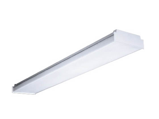 4\' Low Profile Wraparound Fluorescent Light Fixture for Four F32T8 ...