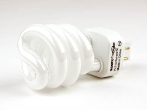 13 Watt 4 Pin Warm White Spiral Cfl Bulb Pls13 2700k Spiral Bulbs Com