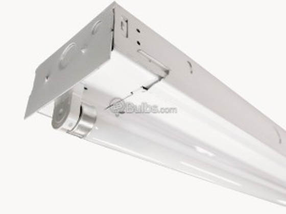 TCP GP4WA232UNIN 4' General Purpose Striplight Fixture For Two F32T8 Lamps