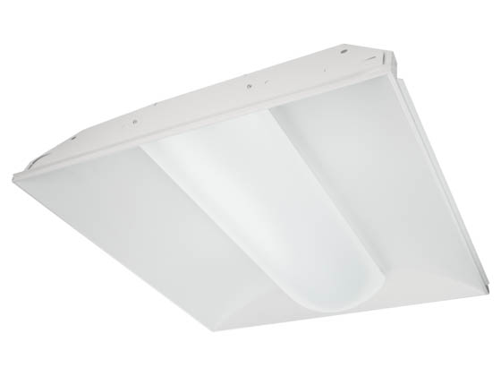 TCP TCPTRV2UNI2241K 22.5 Watt, 2x2 ft Non-Dimmable Designer Series LED Recessed Troffer Fixture, 4100K
