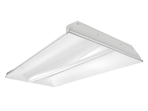 TCP TCPTRV4UNI4430K 45 Watt, 2x4 ft Non-Dimmable Designer Series LED Recessed Troffer Fixture, 3000K