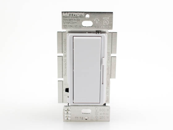 Lutron Electronics DVCL-253P-WH Lutron Diva CFL or LED Dimmer, White, 250W Maximum