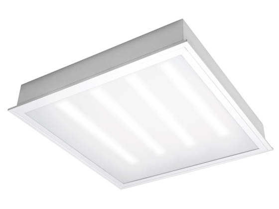 TCP TCPETRF2UNI2041K 24 Watt, 2x2 ft Non-Dimmable Recessed LED Troffer Fixture, 4100K