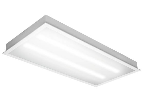 TCP TCPETRF4UNI6835K 70 Watt, 2x4 ft Non-Dimmable Recessed LED Troffer Fixture, 3500K