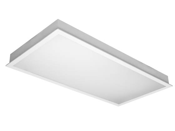 TCP TCPTRF4UNI8041K 80 Watt, 2x4 ft Non-Dimmable Recessed LED Troffer Fixture, 4100K