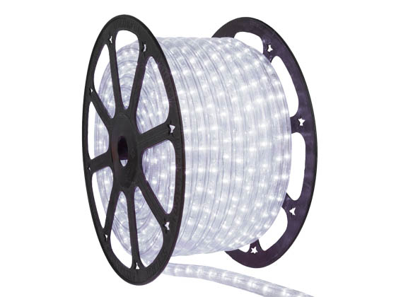 Green Watt GR-120V-CW-2W GR-2WR-150FT-W 150' LED Rope Light Reel Cool White, 5000K