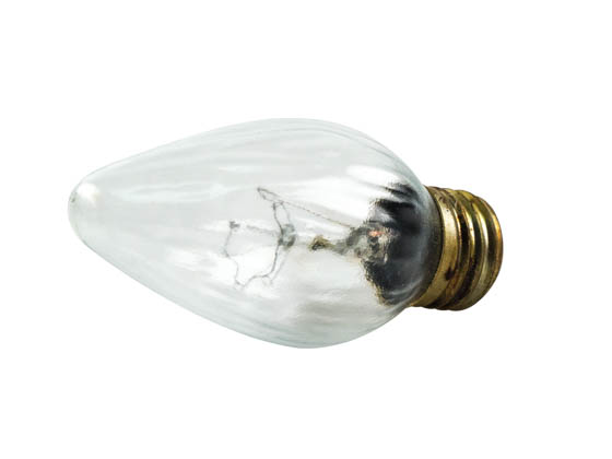 Protech Coatings Solutions 60F15-Cl-Al-TSG 60F15CL (Safety) Safety Coated 60 Watt, 130 Volt F15 Clear Fiesta Decorative Bulb