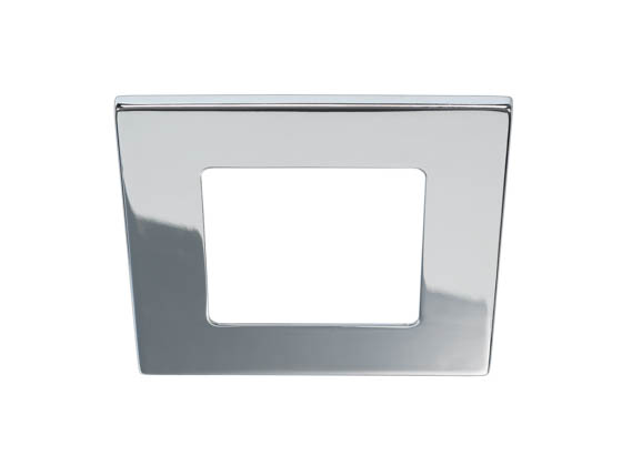 "Bulbrite 775708 LEDMAG4/TSCH Eleva 4"" Square Trim, Chrome"