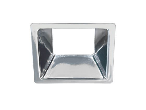 "Bulbrite 775728 LEDMAG4/RSCH Eleva 4"" Square Reflector, Chrome"