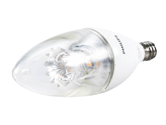 Philips Lighting 458695 7B12/LED/827-22/E12/DIM 120V Philips Dimmable 7W Warm Glow 2700K to 2200K Decorative LED Bulb