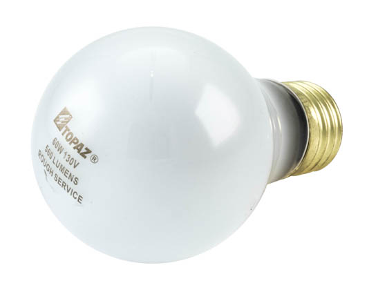 Topaz 60 Watt 130 Volt A19 Rough Service Incandescent