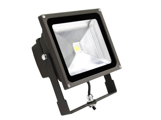 MaxLite 77090 FLS40U50B 175 Watt Equivalent, 40 Watt Small LED Flood Light Fixture - Wide Light Distribution