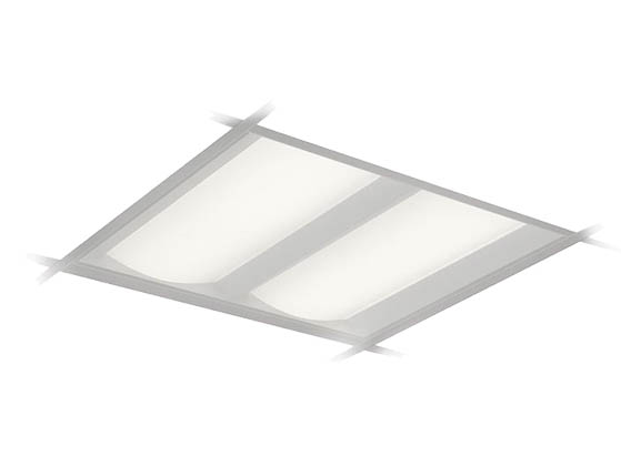 Philips Dualed Dimmable 39w 3500k 2x2 Ft Recessed Led Troffer With Spacewise 2dlg38l835 2 D