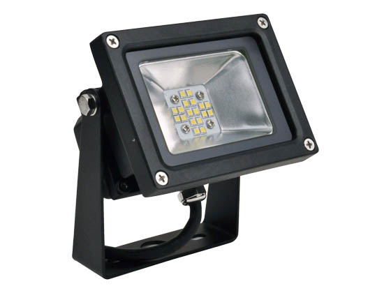 NaturaLED 7513 LED-FXFDL13/40K/BK 13 Watt Small LED Flood Light Fixture, 4000K