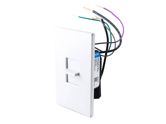 lutron nova-t led & fluorescent 0-10 v single pole slide-to-off dimmer, white | ntstv-dv-wh ... lutron nova t wiring diagram