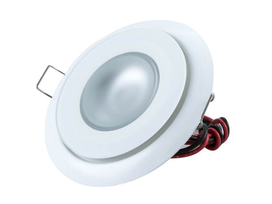 Lumitec Lighting 113127 Mirage Spectrum FMDL White Mirage Marine Dimmable White Finish with RGBW LED Downlight