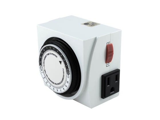 UltraGrow UG-TR/M2/120 120V Mechanical Timer, double outlets
