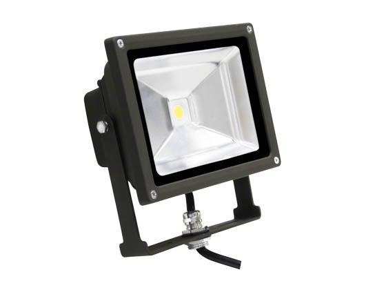MaxLite 77089 FLS20U50B 20 Watt Small LED Flood Light Fixture - Wide Light Distribution