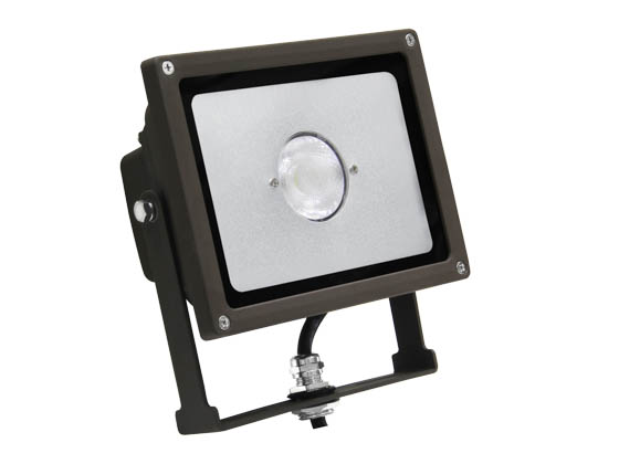 MaxLite 77069 FLS20U50B/N 150 Watt Equivalent, 20 Watt Small LED Flood Light Fixture - Narrow Light Distribution