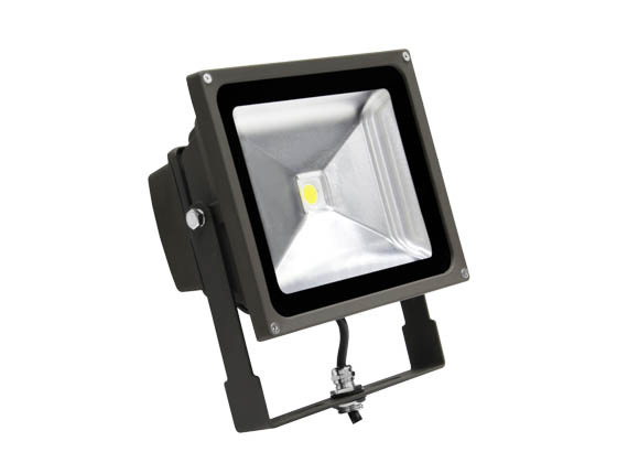 MaxLite 77091 FLS50U50B 50 Watt Small LED Flood Light Fixture - Wide Light Distribution