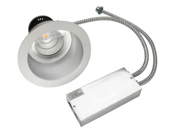 "MaxLite 96864 RRECO82330W 23 Watt, 2x26 Watt CFL Equivalent, Dimmable, 3000K, 8"" LED Recessed Downlight Retrofit"