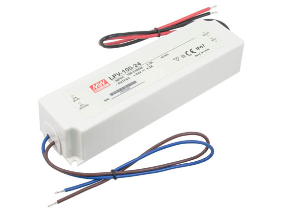 American Lighting LED-DR100-24 Hardwire Non-Dimmable LED Driver, 24V DC, 100 Watt Maximum, For TRULUX 24V Standard and High Output LED Tape Light