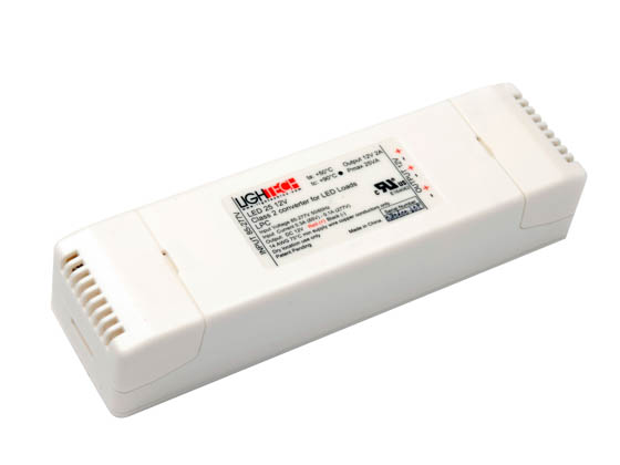 American Lighting LED-DR60-24 Hardwire Non-Dimmable LED Driver, 24V DC, 60 Watt Maximum, For TRULUX 24V Standard and High Output LED Tape Light